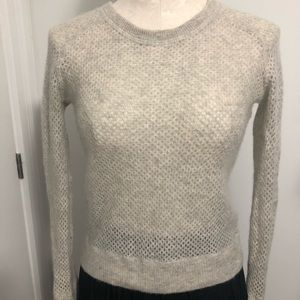 SAKS FIFTH AVE soft grey knitted Cashmere sweater